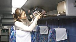 バスに乗車したら写真