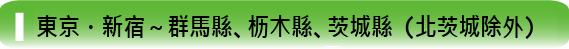 東京・新宿~群馬縣、枥木縣、茨城縣(北茨城除外)
